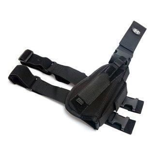 Pistolenbeinholster, schwarz, rechts