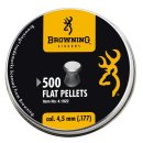 Browning Flat Pellets 4,5 mm 500 pcs.
