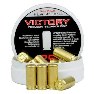 25 Victory Flashbang Cartridges 9 mm P.A.K.