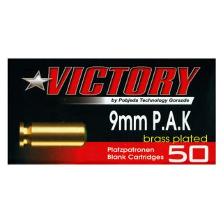Victory blank cartridges brass plated 9 mm P.A.K.