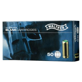 50 Walther blank cartridges 9 mm P.A.K.