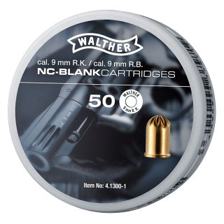 50 Walther blank cartridges 9 mm R.K.