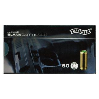 50 Walther blank cartridges 8 mm K.
