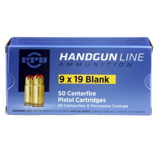 9x19mm Blank cartridges PPU 50 pcs.