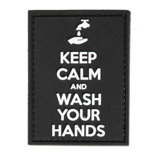 Keep Calm and Wash Your Hands 3D Patch