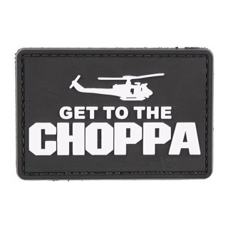 Get to the Choppa - Black - 3D Patch