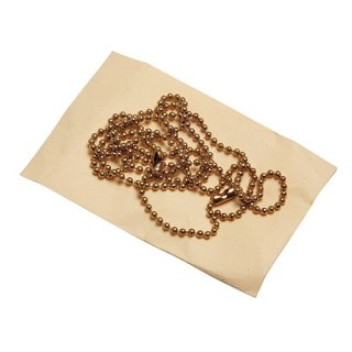 Dog Tag Kette gold